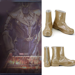 Avengers 3 Infinity War Thanos Cosplay Boots Golden Shoes Custom Made