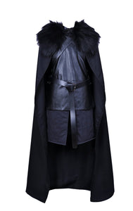 Game of Thrones Jon Snow Knights Watch Cosplay Costume Custom Made