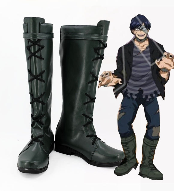 My Hero Academia Iida Tenya Cosplay Boots Leather Shoes Boku no Hero Academia Iida Tenya Cosplay Custom Made