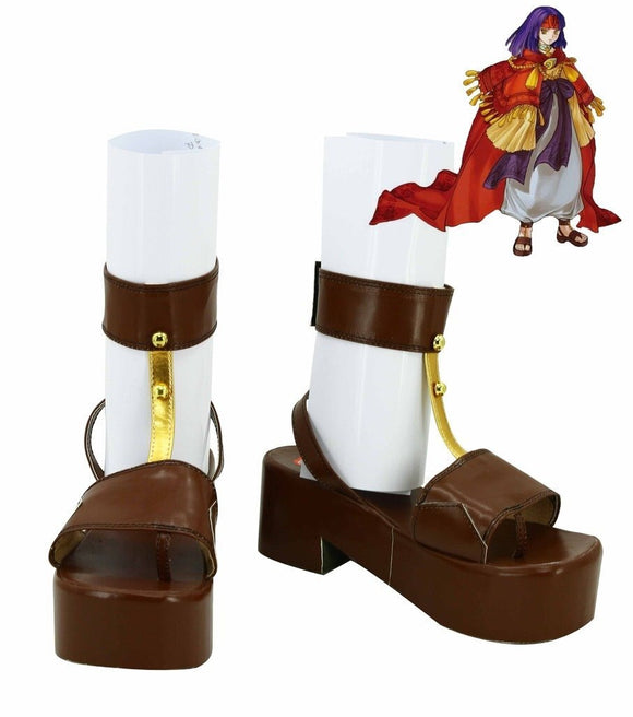 Fire Emblem Sheeda Cosplay Shoes Brown Sandals Custom Made