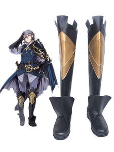 Fire Emblem Laslow Cosplay Boots Black Shoes Custom Made