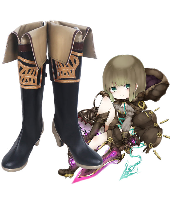 SINoAlice Breaker Hansel Gretel Retro Cosplay Long Boots Leather Shoes Custom Made