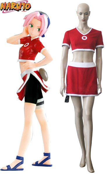 Naruto Sakura Haruno Summer Dress Cosplay Costume Custom Made