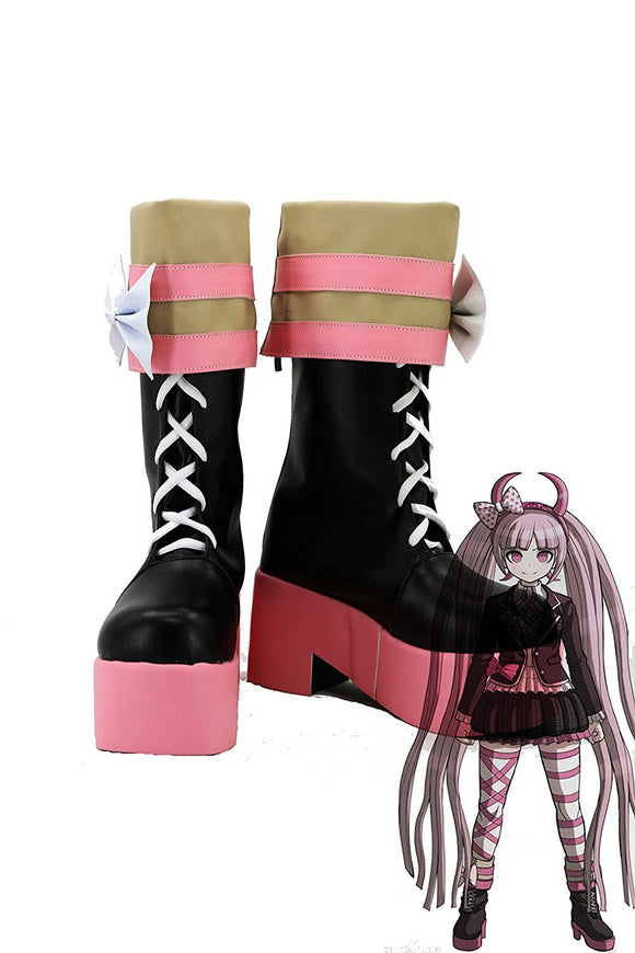 Danganronpa Kotoko Utsugi Cosplay Boots Leather Shoes Custom Made Any Size