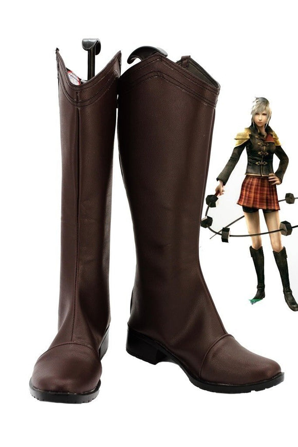 Final Fantasy Type-0 Seven Cosplay Boots Black Shoes Custom Made