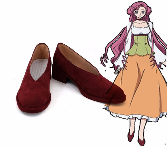 Code Geass Euphemia li Britannia Euphy Cosplay Shoes Red Boots Custom Made