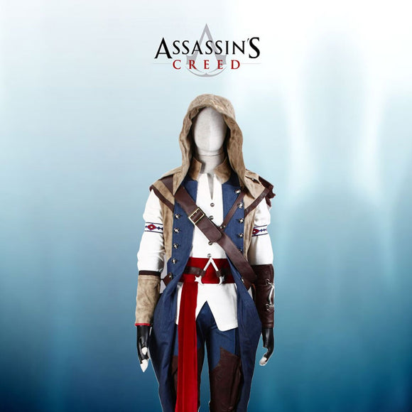 Assassin's Creed III Connor Cosplay Costume Custom Made Any Size Full Set