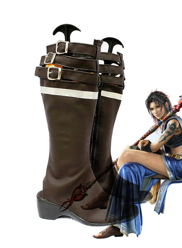 Final Fantasy XIII FF13 Oerba Yun Fang Cosplay Boots Brown Shoes