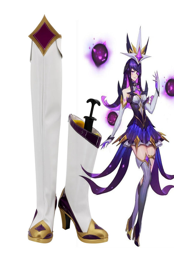 League of Legends LOL Star Guardian The Dark Sovereign Syndra Cosplay Boots High Heel Shoes