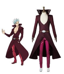 The Seven Deadly Sins Fox's Sin of Greed Ban Cosplay Costume Custom Made Full Set for Unisex