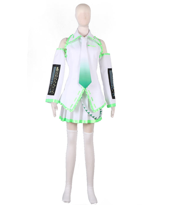 Vocaloid Hatsune Miku Green Singing Dress Cosplay Costume Custom Made