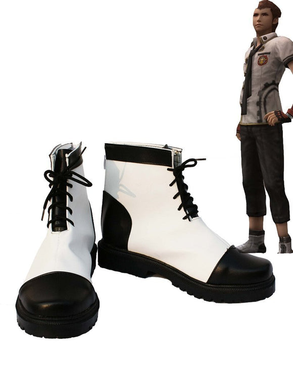 Final Fantasy Type-0 Eight Cosplay Boots Leather Shoes