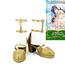 Love live Nozomi Tojo Cosplay Boots Golden Shoes Custom Made Any Size