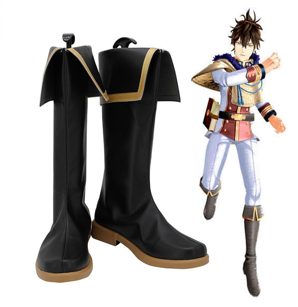 Black Clover: Quartet Knights Yuno Cosplay Boots Black Shoes Custom Made Any Size