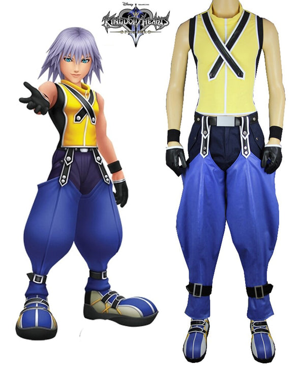 Kingdom Hearts 2 Riku Cosplay Costume Custom Made Full Set