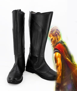 Thor 3 Ragnarok Thor Cosplay Boots Black Shoes Halloween Carnival Boots Custom Made
