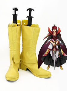 Magi The Labyrinth of Magic Kouen Ren Cosplay Boots Yellow Shoes Custom Made