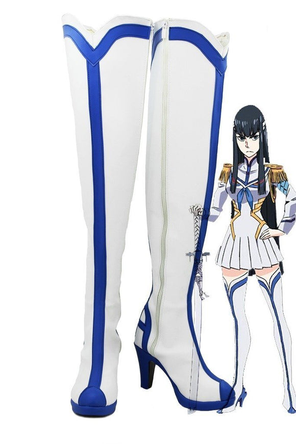 Kill La Kill Satsuki Kiryuin Cosplay Boots White Shoes Custom Made
