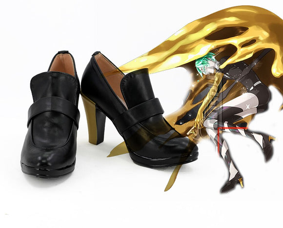 Land of the Lustrous Phosphophyllit High Heel Cosplay Shoes Boots Custom Made