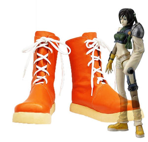 Final Fantasy VII FF7 Yuffie Kisaragi Cosplay Boots Shoes Leather Custom Made