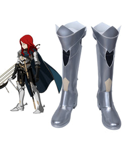 FGO Fate Grand Order Tristan Cosplay Boots Silver Shoes Custom Made Any Size