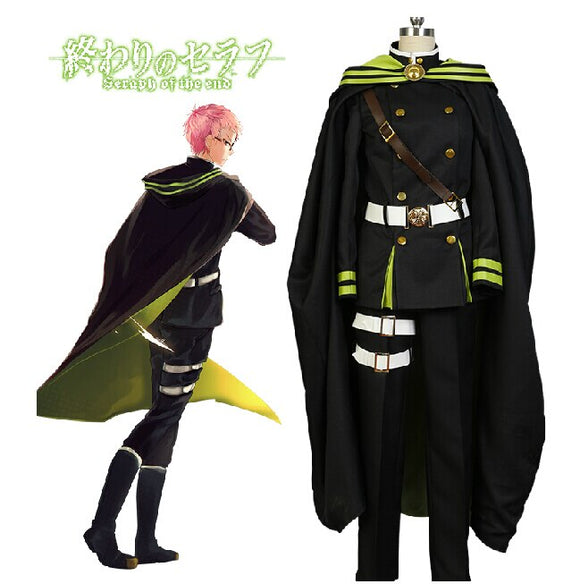 Seraph of the End Shiho Kimizuki Cosplay Costume Custom Made