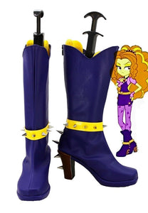 My Little Pony Equestria Girls Rainbow Rocks Adagio Dazzle Cosplay Boots Purple Shoes Custom Made
