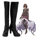 Granblue Fantasy Sandalphon Cosplay Boots Black High Heel Shoes Custom Made for Unisex