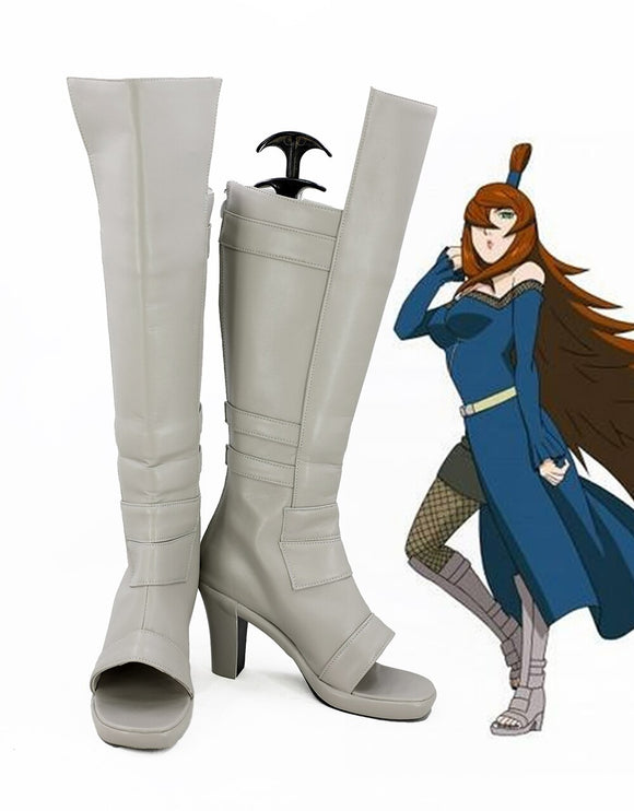 Naruto Terumi Mei Cosplay Boots Leather Shoes Custom Made