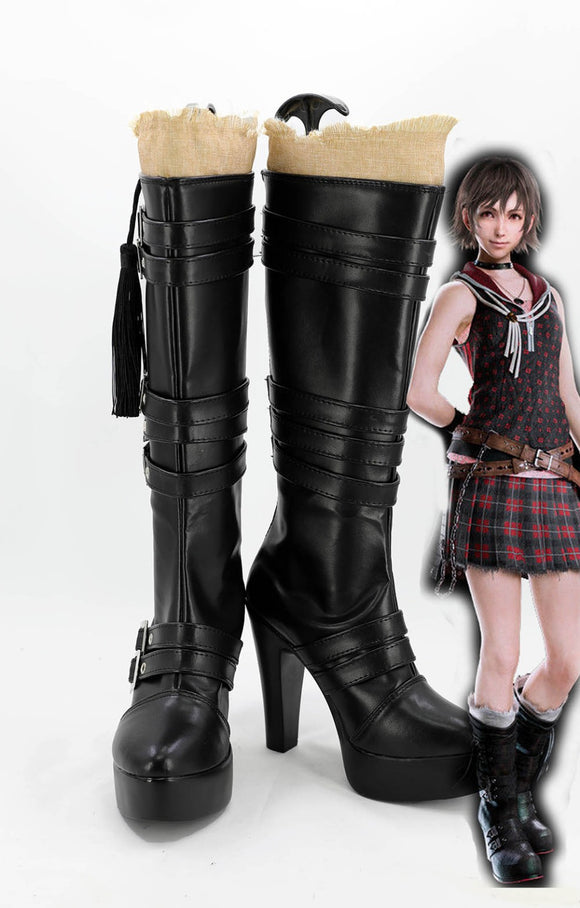 Final Fantasy XV FF15 Iris Amicitia Cosplay Boots Black Shoes Custom Made
