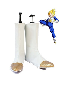 Dragon Ball Vegeta Cosplay Boots White Shoes Custom Made