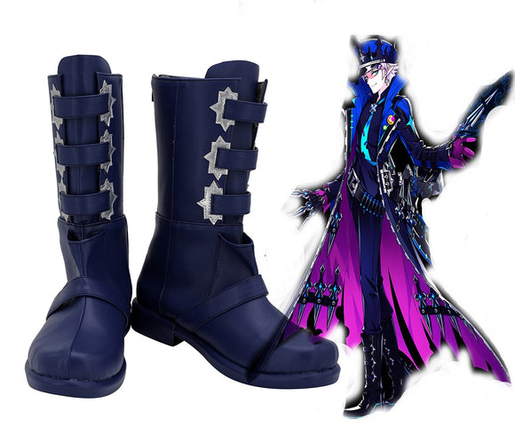 Game ELSWORD Ceil Demonio Blue Cosplay Boots Customized Shoes for Boys and Girls