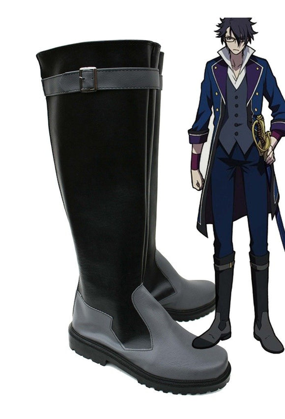 K Return of Kings Fushimi Saruhiko Cosplay Boots Black Shoes Custom Made