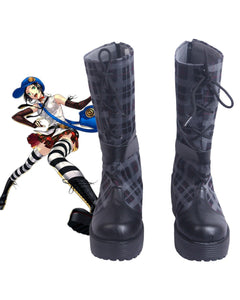 Persona 4 The Golden Marie Cosplay Boots Leather Shoes Custom Made Any Size