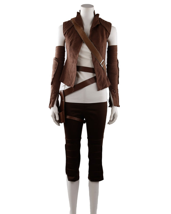 Star Wars 8 The Last Jedi Rey Cosplay Costume Full Set Custom Made