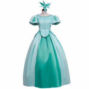 The Little Mermaid Princess Ariel Light Green Dress Cosplay Costume Custom Made