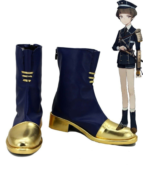 Touken Ranbu Online Hirano Toushirou Cosplay Boots Blue Shoes Custom Made