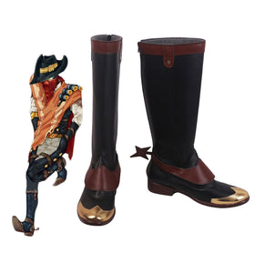 League of Legends LOL The Virtuoso Khada Jhin Cosplay Boots Black Shoes Custom Made