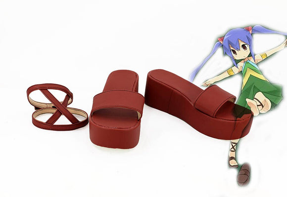 Fairy Tail Wendy Marvell Cosplay Shoes Red Sandals Custom Made