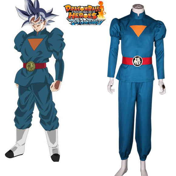 Super Dragon Ball Heroes Son Goku Kakarotto Grand Prist Daishinkan Suit Cosplay Costume Custom Made