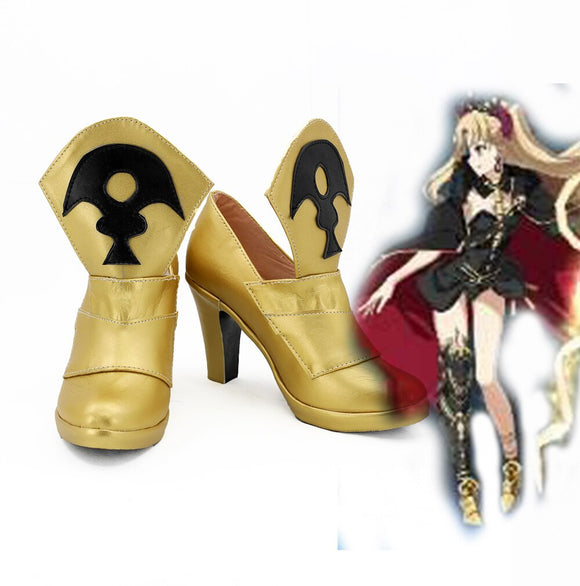 Fate Grand Order FGO Lancer Ereshkigal Cosplay Shoes Golden Boots Costume Made