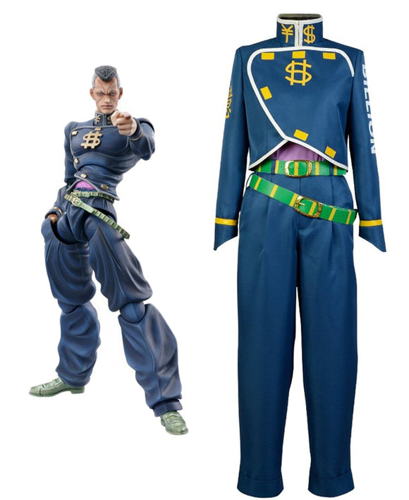 JoJo's Bizarre Adventure Okuyasu Nijimura Cosplay Costume Custom Made