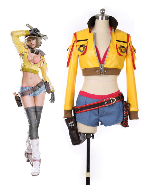 Final Fantasy 15 FF15 Cindy Aurum Cosplay Costume Custom Made
