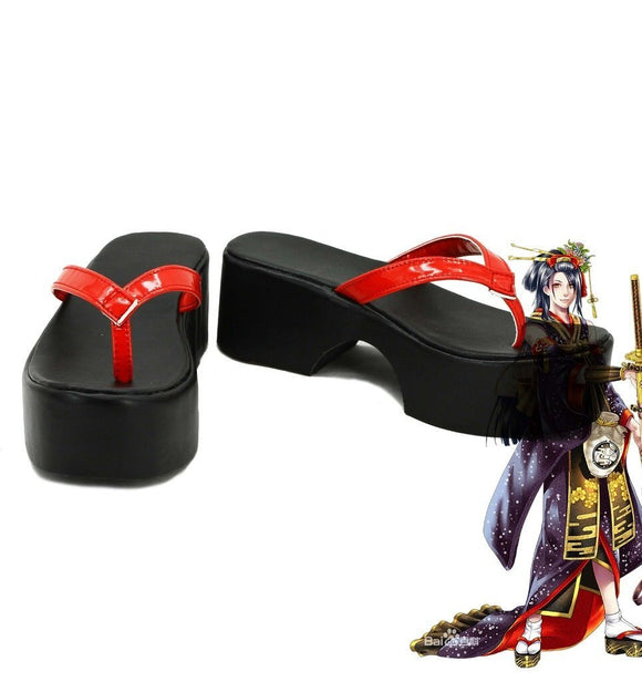 Touken Ranbu Online Jiroutachi Cosplay Shoes Leather Sandals Custom Made