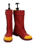 RWBY Oscar Pine Cosplay Boots Red Shoes Custom Made Any Size for Boys and Girls