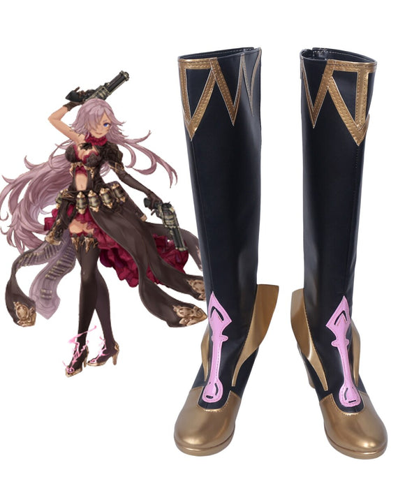 SINoALICE Cinderella Cosplay Wings Boots Leather Shoes Custom Made Any Size