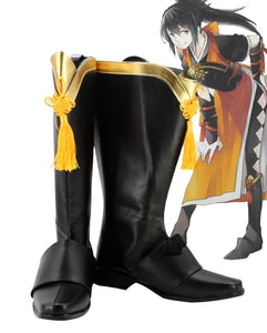 Fire Emblem if Oboro Cosplay Boots Black Shoes Custom Made Any Size