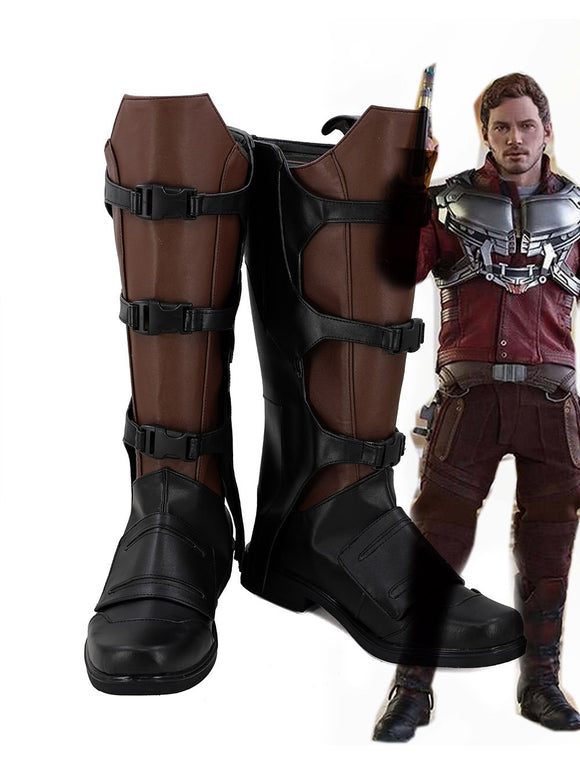 Guardians of The Galaxy Star Lord Peter Quill Cosplay Boots Brown Shoes Custom Made