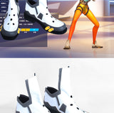 Overwatch OW Tracer Lena Oxton D.VA Cosplay Shoes Battle Boots Custom Made
