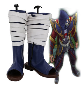 League of Legends LOL The Card Master Twisted Fate Cosplay Boots Custom Made Shoes for Unisex